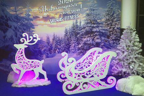 Фотозона на Новый год для  спортивного клуба TAURAS-FITNESS