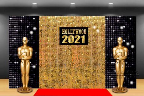 Новогодняя фотозона в стиле Голливуд