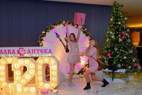 Фотозона к Новому году, декорация Часы