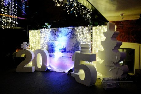 Оформление цифрами на новогоднем торжестве • Сокос Отель