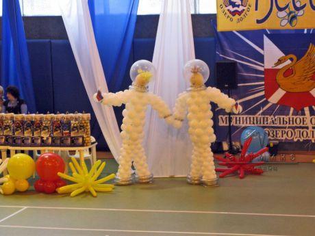 Оформление детского праздника  Веселые старты в стиле Полет в космос