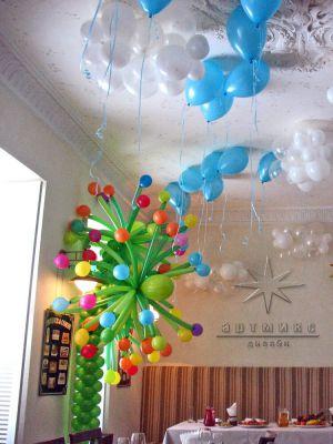 Оформление шарами детского дня рождения