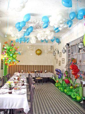 Украшение зала в ресторане на детский  день рождение