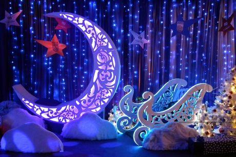 Фотозона ажурный Месяц  с внутренней светодиодной подсветкой