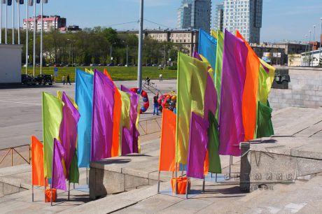 Флаговое оформление праздника на улице и в помещении