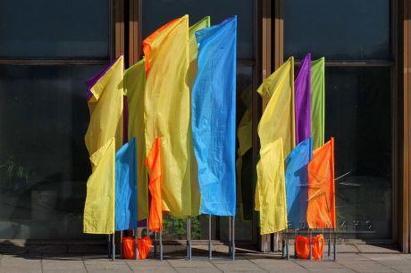 Оформление любых мероприятий не обходится без флагов