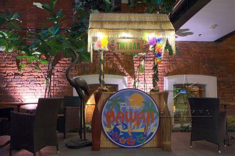Тики-Бар на незабываемой встречи Новогодней вечеринке по-гавайски в атмосфере жарких тропиков