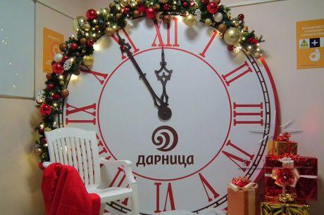 Фотозона Часы на Новый год