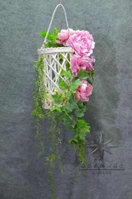 Плетёная корзинка для декора фотозоны