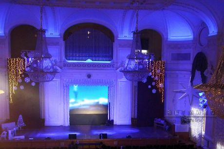 Новогоднее оформление актового зала