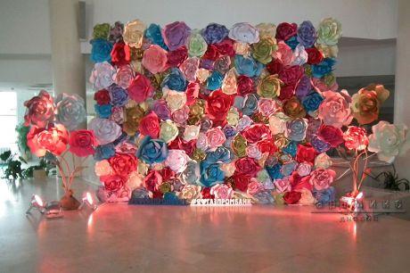 Оформление фотозоны Королевство цветов
