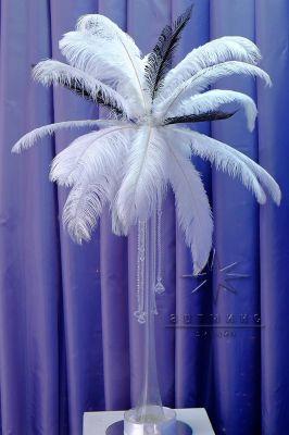Новое предложение по декору к новому году - аренду страусиные перья в вазах