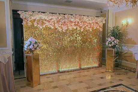 Оформление фотозоны в отеле Эмиральд
