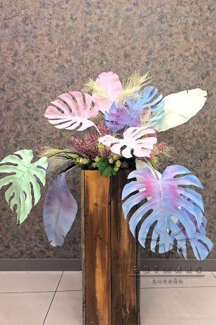 Колонны с цветными листьями_3
