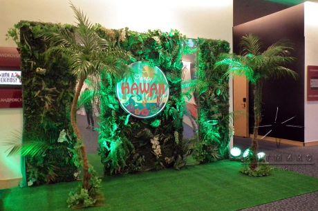 Новогодняя фотозона для гавайского карнавала