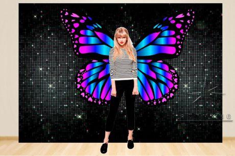Фотозона Динамические (чёрные) пайетки и крылья бабочки