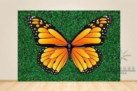 Фотозона Зелёная стена с крыльями бабочки