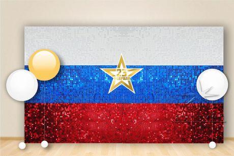 Фон из пайеток из 3 цветов триколора Российский Флаг