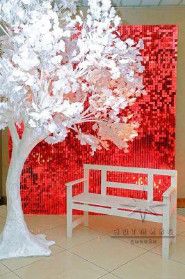 Фотозона Динамические красные пайетки