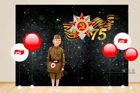 Фон из чёрных пайеток к празднику День Победы
