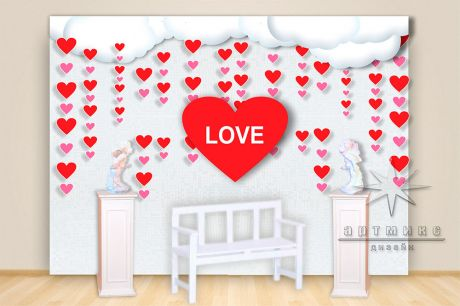 Романтические инсталляции ко дню Святого Валентина_1