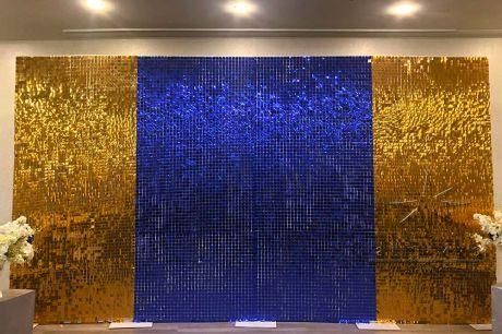 Фотозоны синие и золотые или красные и белые пайетки _1