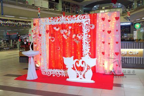 Фотозона в аренду для  Дня Святого Валентина