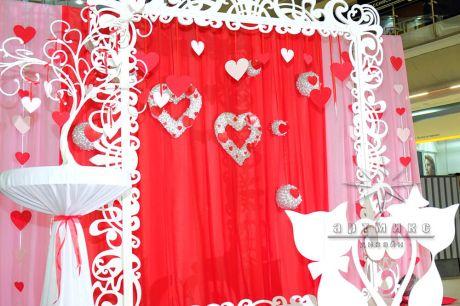 Фотозона Love на День Святого Валентина