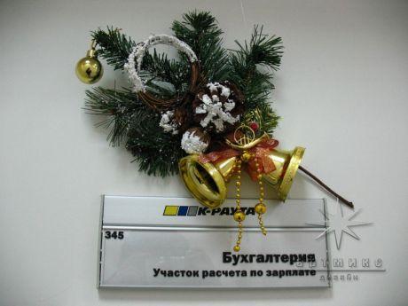 Декор на новогоднее оформление офиса