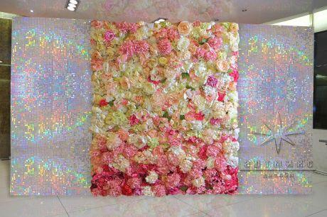 Цветочные фотозоны с перламутром