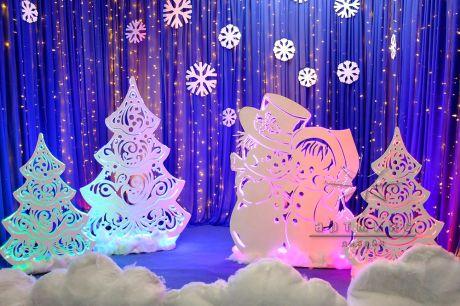 Фотозона Снеговики и ёлочки