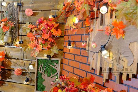 Осенний декор в оформлении пространства