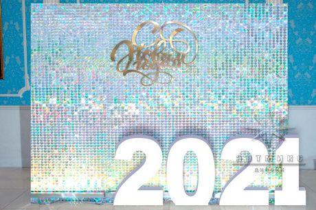 Фотозона из пайеток к Новому году
