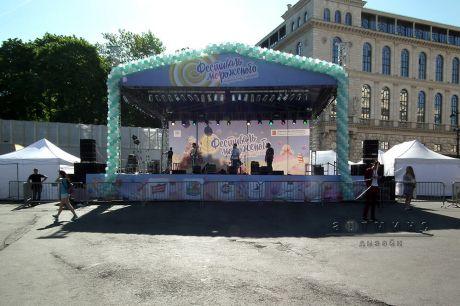 Оформление территории для городского фестиваля Праздник Мороженого (2)