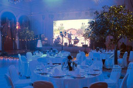 Оформление зала для корпоративного праздника в роскошных интерьерах Талион Империал Отеля