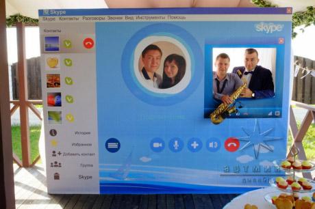 Стиль общения по Skype в оформлении фото зоны