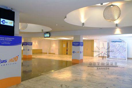 Оформление фойе на площадке отеля Park Inn Pulkovskaya