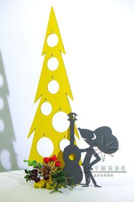 Настольная композиция на Новый год Мышонок с гитарой