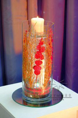 Новогодний декор в вазе с водой