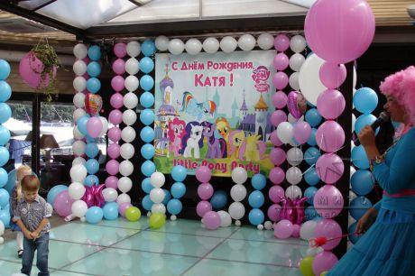 Оформление детское дня рождения в ресторане Le Cristal