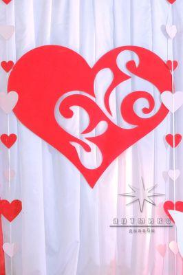 Декорация на фотозоне - сердце