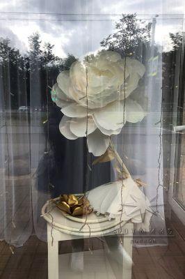 Цветы в оформлении витрин