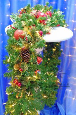 Новогодняя гирлянда из еловых веток 2,5 метра