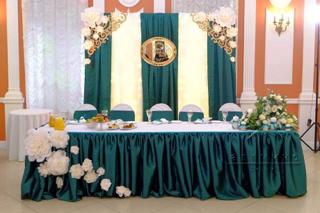 Оформление зала для юбиляра