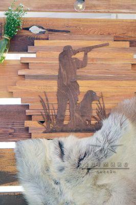 Картина в стиле охотничьих атрибутов