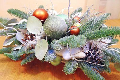 Новогодняя композиция из Голландской серебристой пихты - Нобилис
