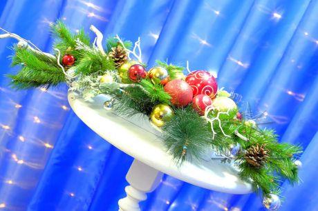 Настольные композиции для новогоднего торжества