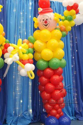 Фигура из воздушных шаров на тематику Цирк
