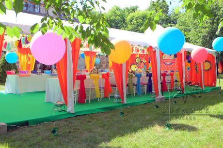 Оформление дня рождения в шатре
