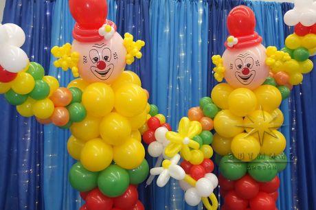 Тематические фигуры из шаров - Цирк